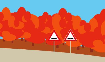 Verkehrszeichen: Kontrastrand